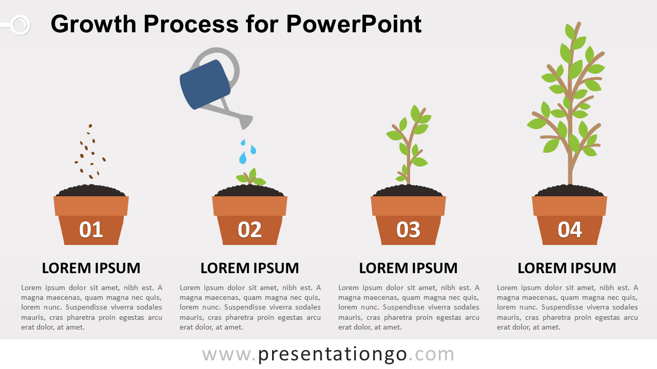Free Growth Process Metaphor for PowerPoint