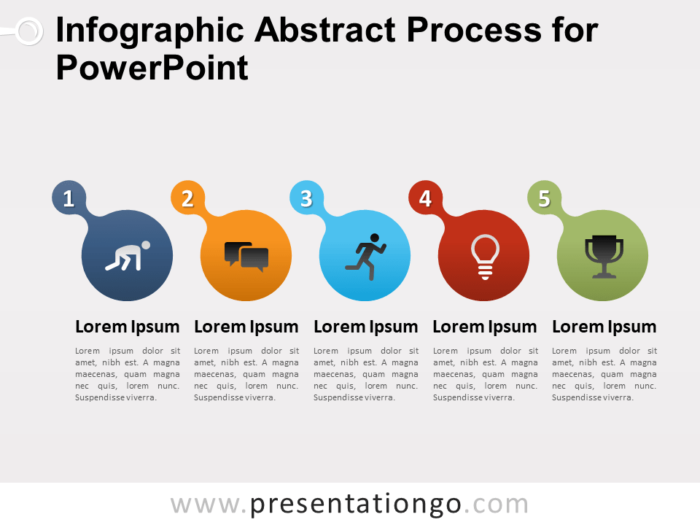 Free Infographic Abstract Process for PowerPoint