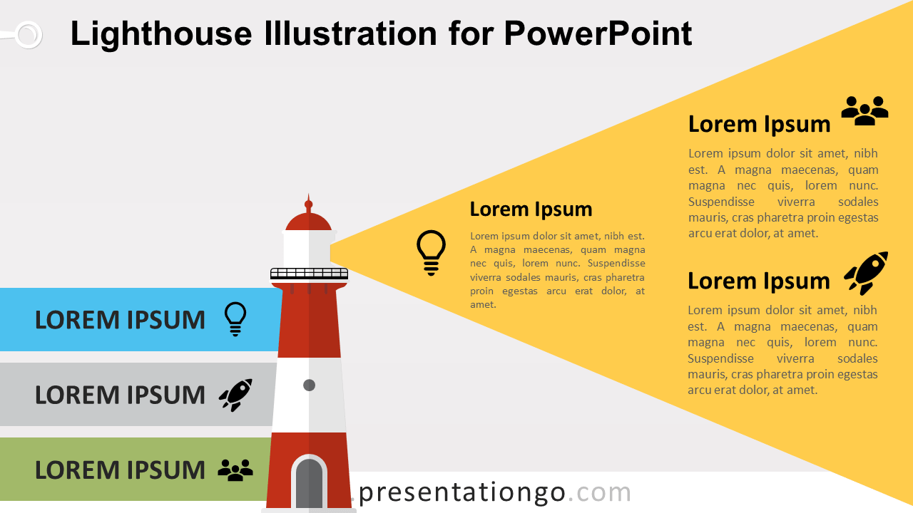Free Lighthouse for PowerPoint