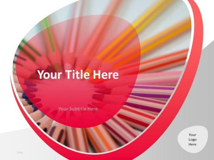 Free Teacher PowerPoint Template - Cover Slide