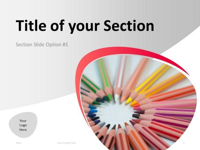 Free Teacher PowerPoint Template - Section Slide 1