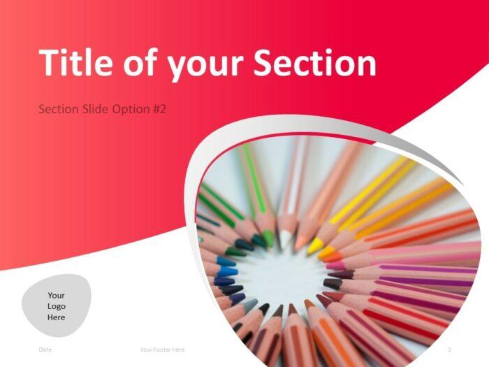 Free Teacher PowerPoint Template - Section Slide 2