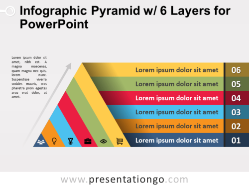 Free Infographic Pyramid with 6 Layers for PowerPoint