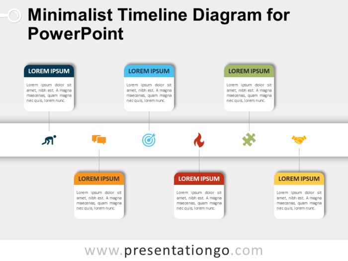 Free Minimalist Timeline Diagram for PowerPoint