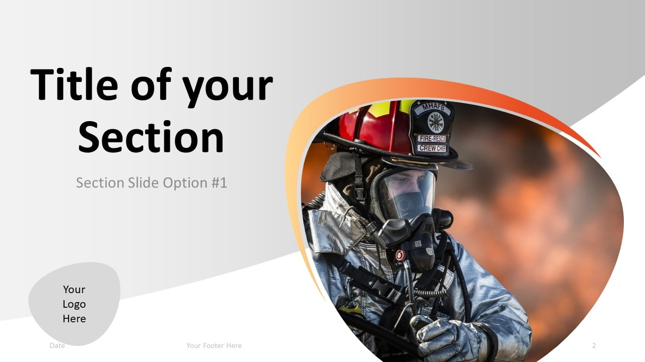 Free Firefighter PowerPoint Template - Section 1