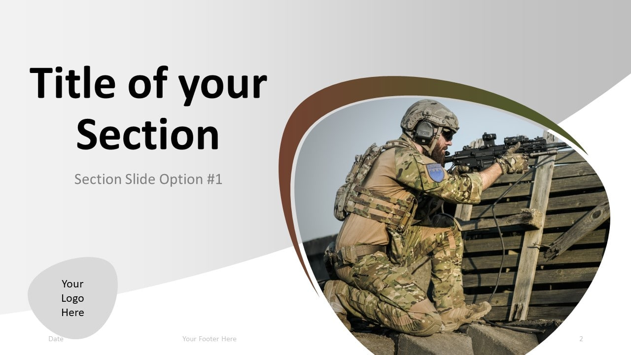 Free Military PowerPoint Template - Section 1