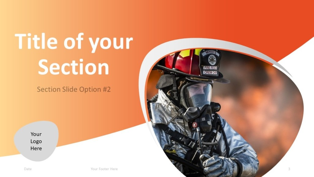 Free Firefighter PowerPoint Template - Section 2