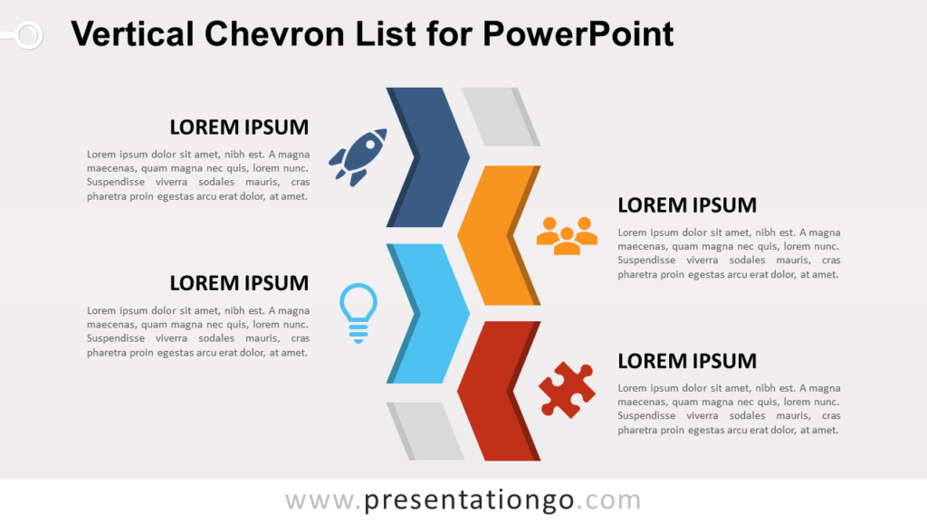 Free Chevron List for PowerPoint