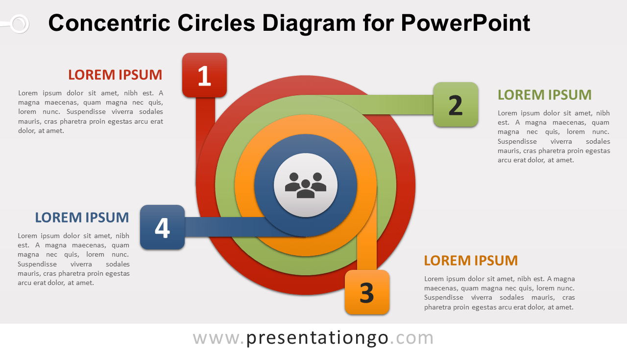 Free Concentric Circles for PowerPoint