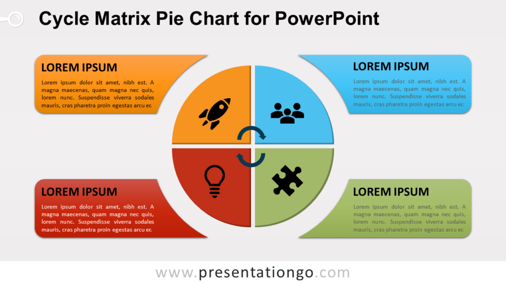 Free Cycle Matrix Pie for PowerPoint