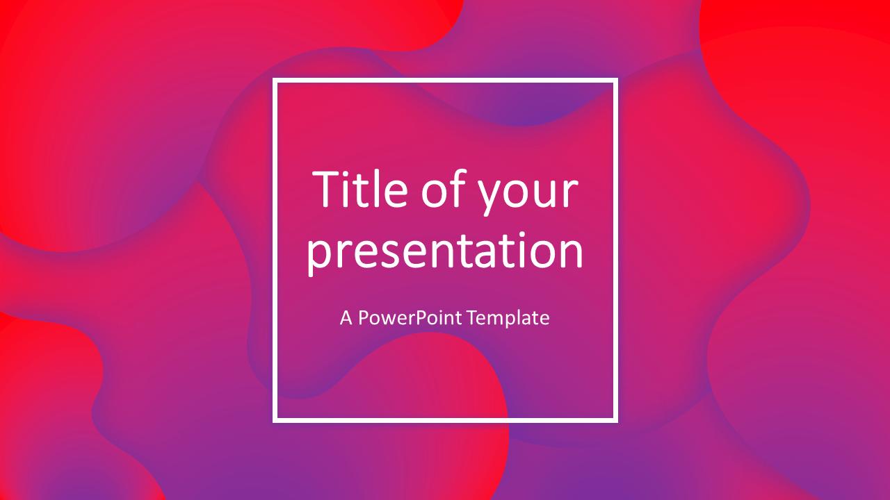 Fluids Free PowerPoint Template (Pink-Purple)