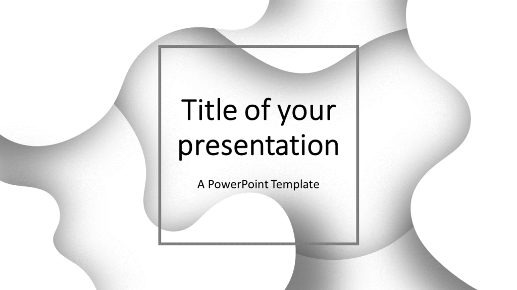 Fluids Free PowerPoint Template (White)