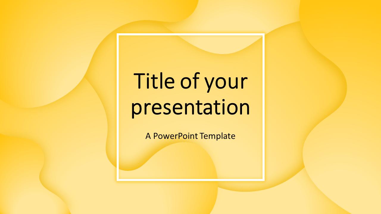 Fluids - Free PowerPoint Template (Yellow)