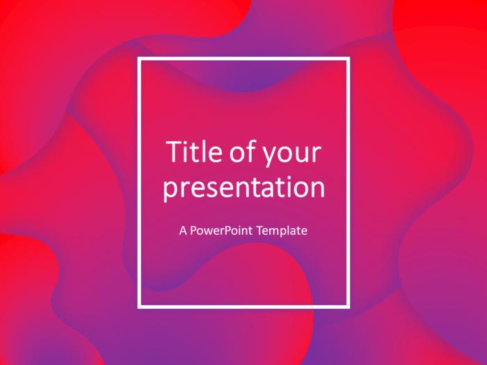 Free Fluids PowerPoint Template (Pink-Purple)
