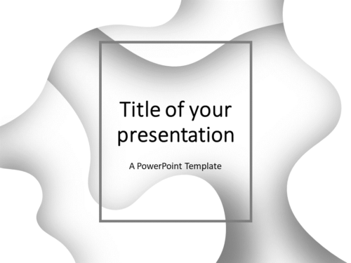 Free Fluids PowerPoint Template (White)