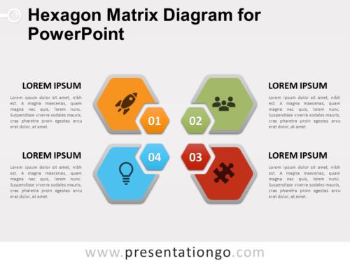 Free Hexagon Matrix Diagram for PowerPoint