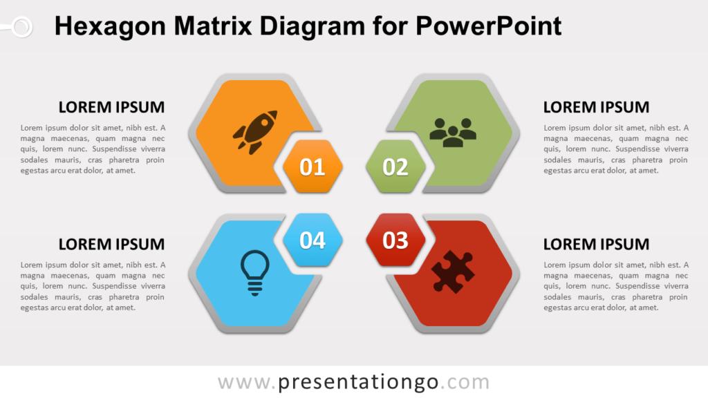 Free Hexagon Matrix for PowerPoint