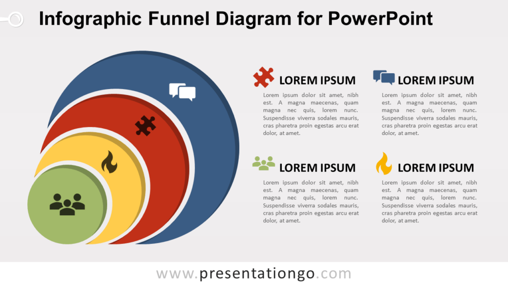 Free Infographic Funnel for PowerPoint