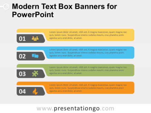 Free Modern Text Boxes for PowerPoint