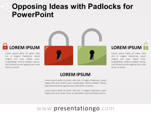 Free Opposing Ideas with Padlocks for PowerPoint