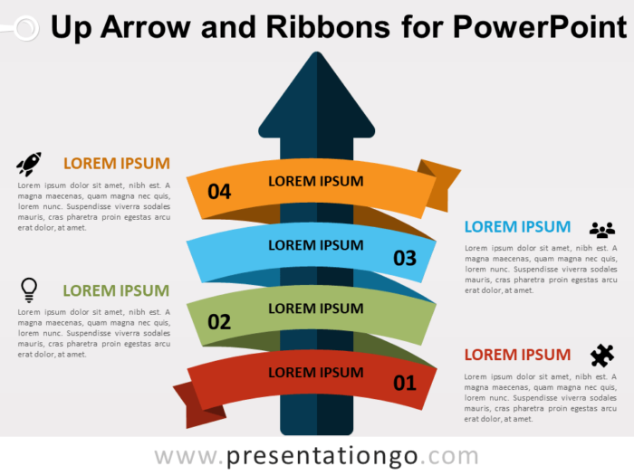 Up-Arrow and Ribbons for PowerPoint