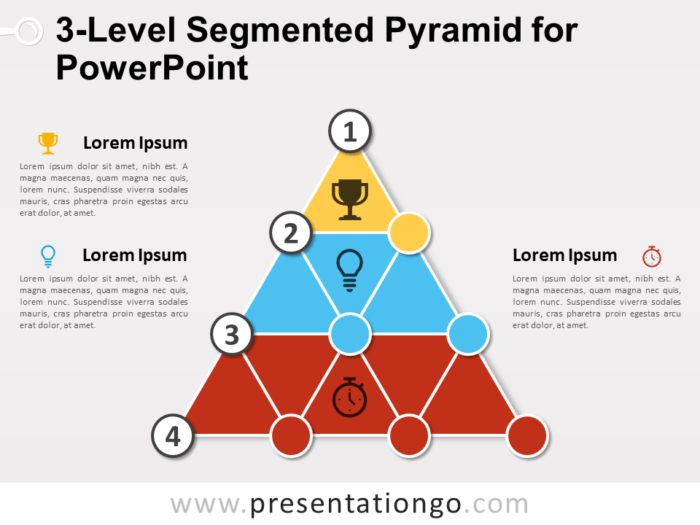 Free 3-Level Segmented Pyramid for PowerPoint