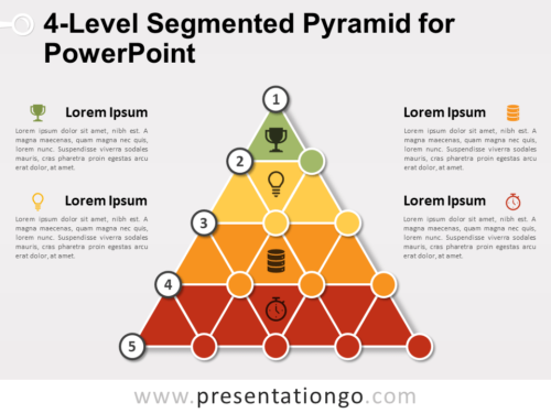 Free 4-Level Segmented Pyramid for PowerPoint