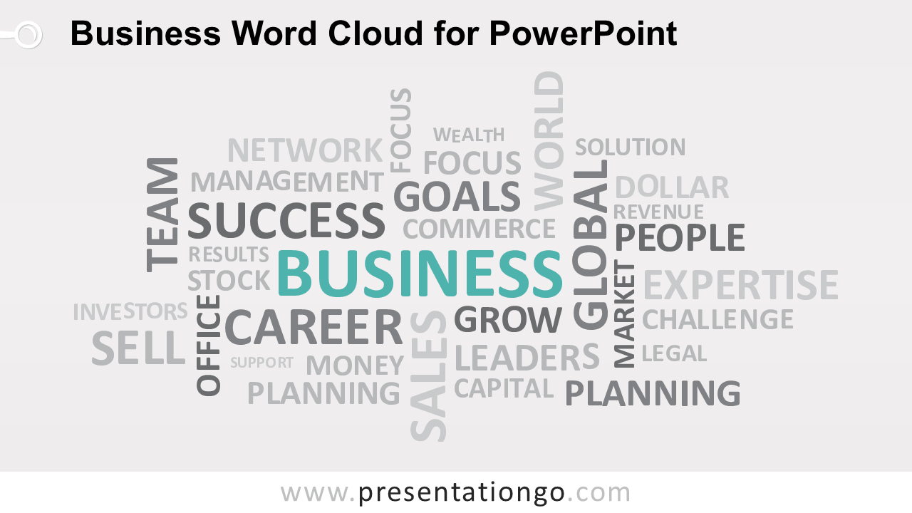 Free Business Word Tag Cloud for PowerPoint