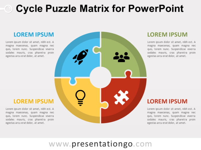 Free Cycle Puzzle Matrix for PowerPoint