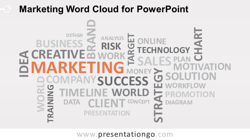 Free Marketing Word Tag Cloud for PowerPoint