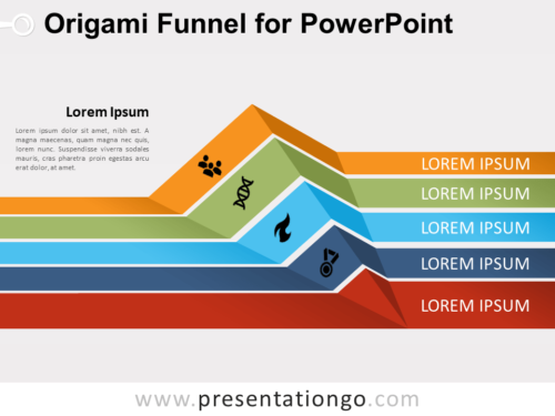 Free Origami Funnel for PowerPoint