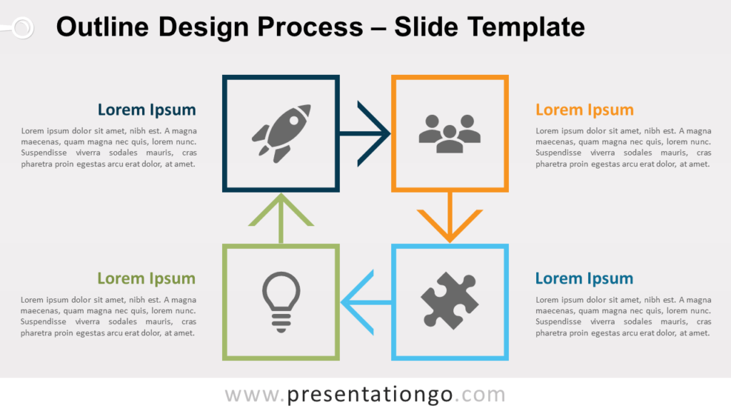 Free Outline Process Diagram for PowerPoint and Google Slides