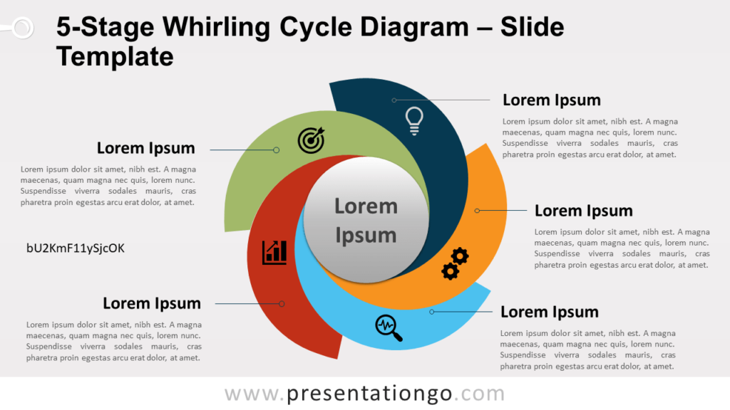 5-Stage Whirling Cycle Diagram for PowerPoint and Google Slides