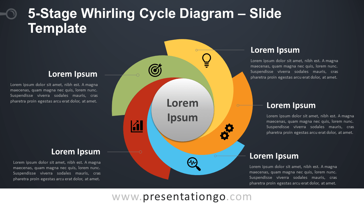 5-Stage Whirling Cycle Diagram for PowerPoint
