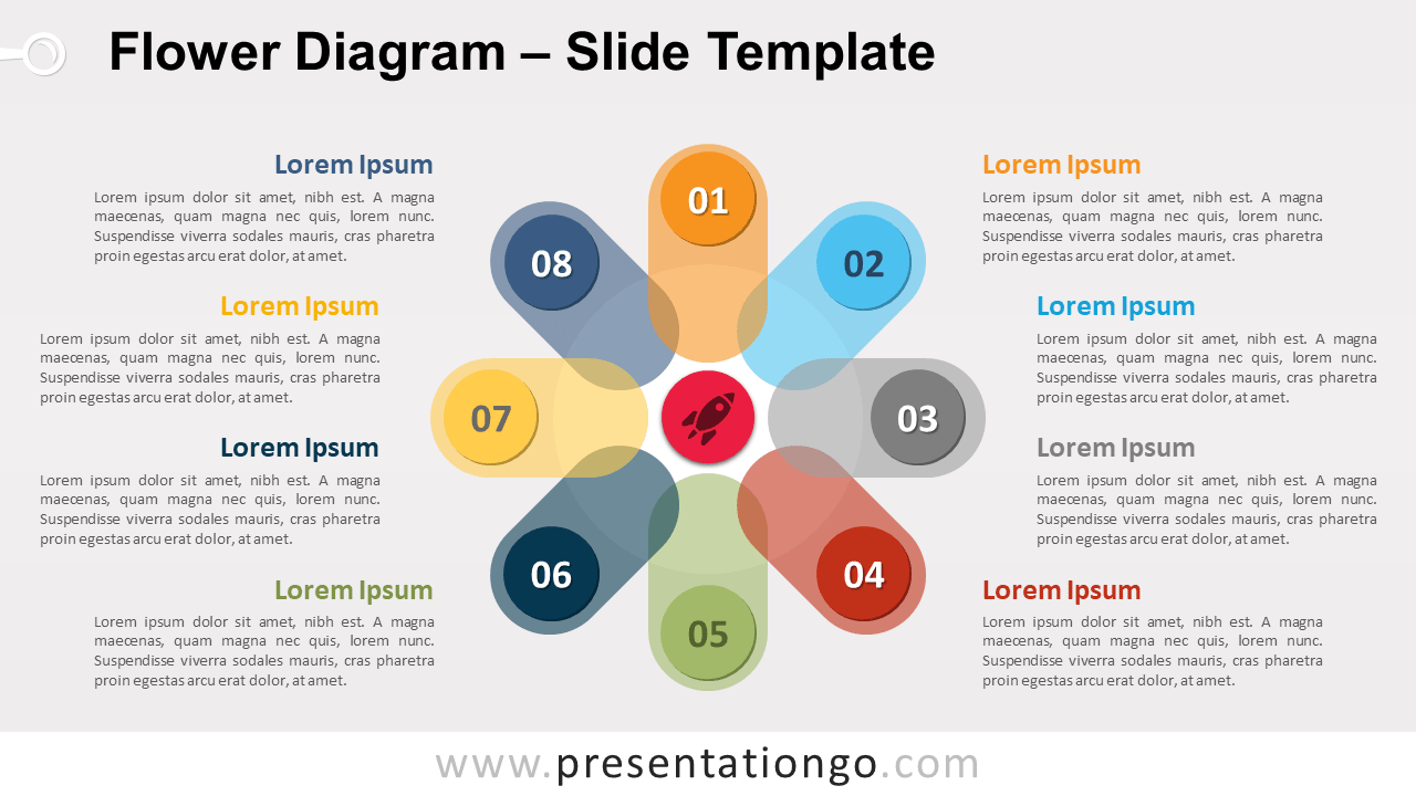 Free Flower Diagram for PowerPoint and Google Slides