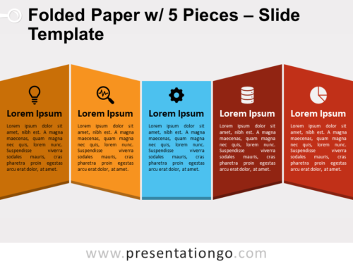 Free Folded Paper with 5 Pieces Slide Template