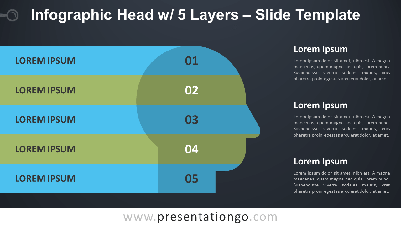 Free Head with 5 Layers for PowerPoint and Google Slides