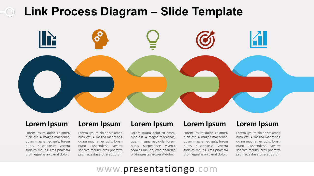 Free Link Process Diagram for PowerPoint and Google Slides