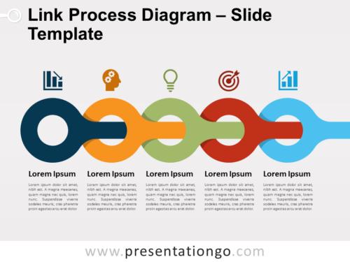 Free Link Process Diagram Slide Template