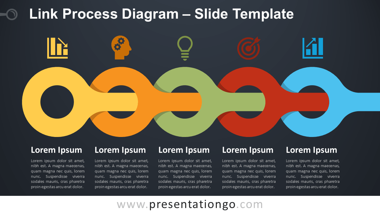 Free Link Process Diagram for PowerPoint