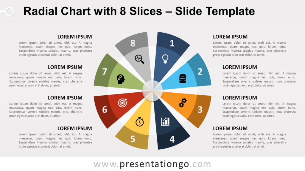 Free Radial Chart with 8 Slices for PowerPoint and Google Slides