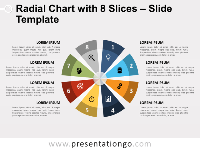 Radial Chart with 8 Slices Template