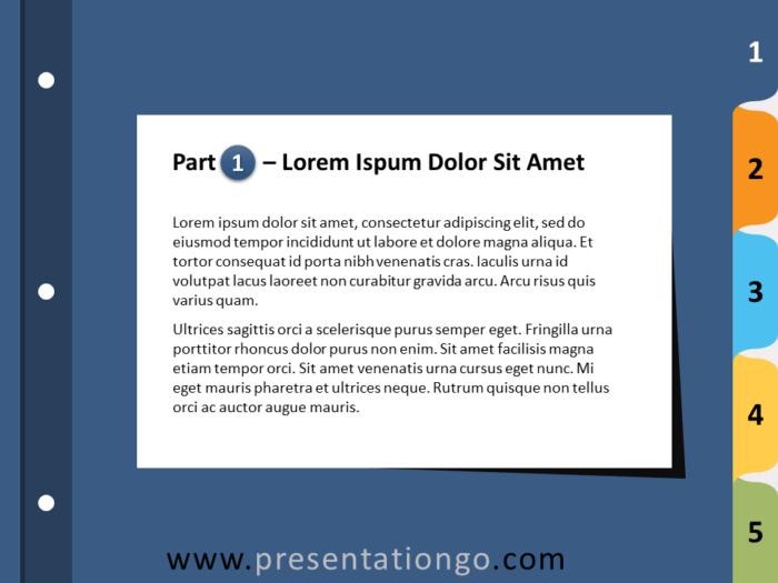 Free 5-Tab Binder Dividers for PowerPoint - Slide 2