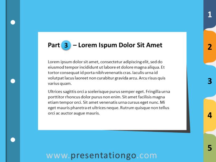 Free 5-Tab Binder Dividers for PowerPoint - Slide 4