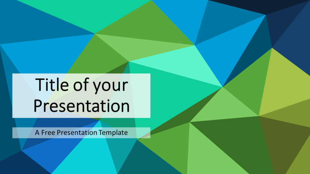 Free Blue-Green Triangle Mosaic Template for PowerPoint and Google Slides