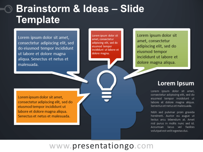 Free Brainstorm and Ideas Template for PowerPoint