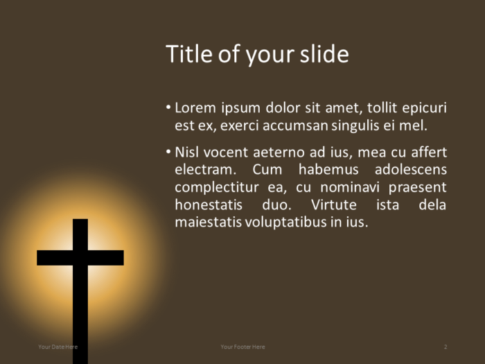 Christian Cross Template for PowerPoint - Title and Content Slide