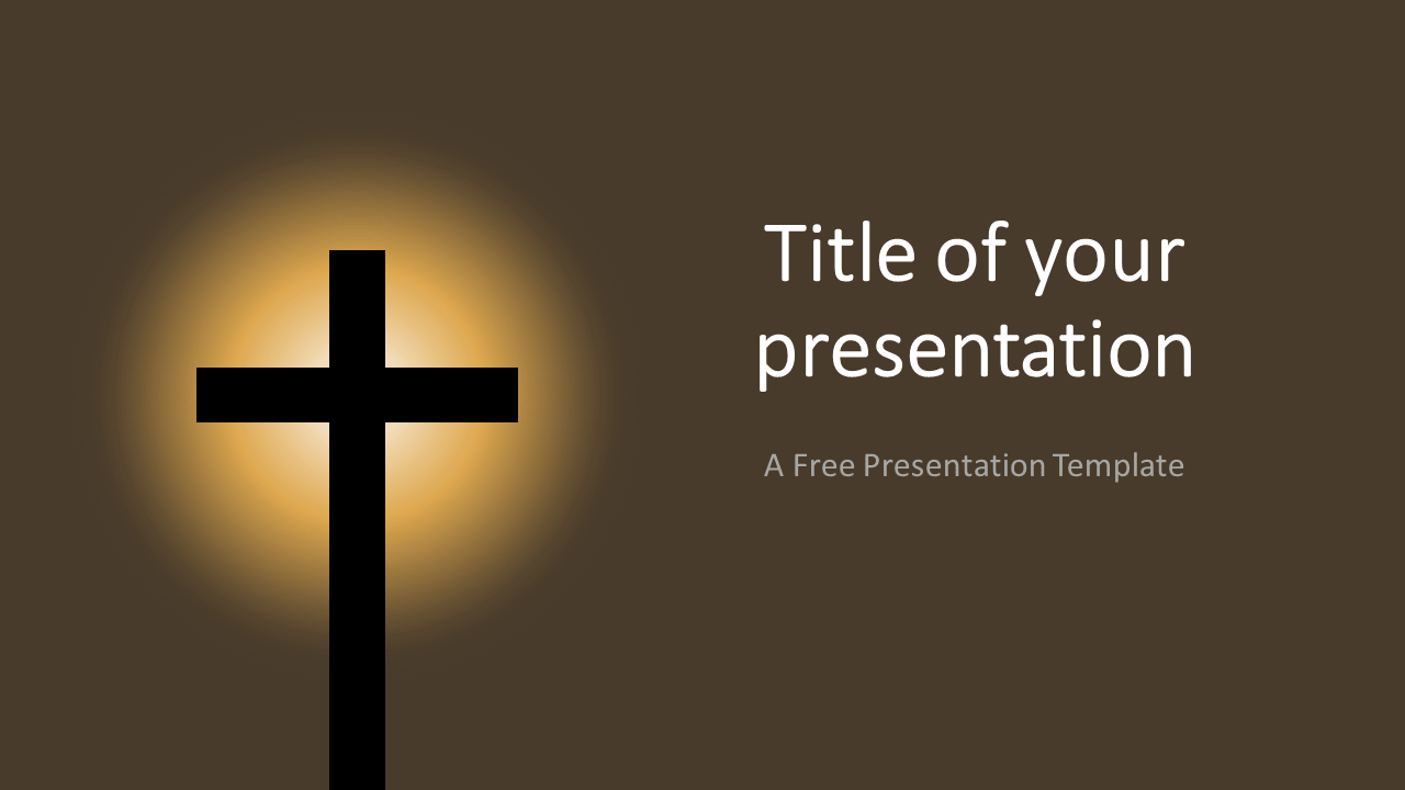 Free Christian Cross Template for PowerPoint and Google Slides
