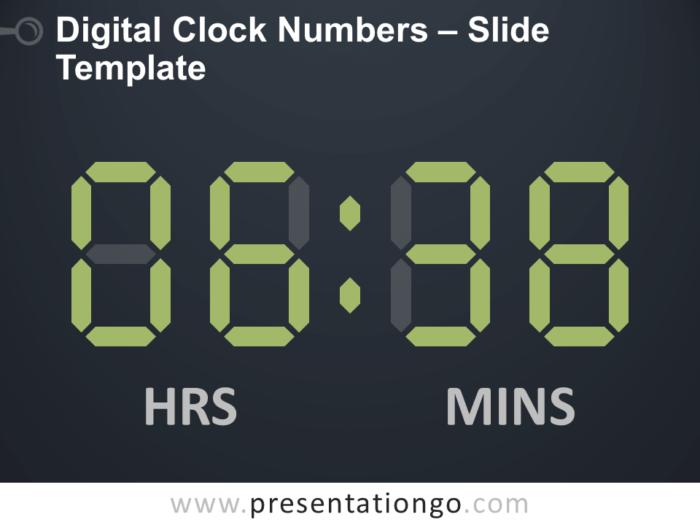 Free Digital Clock Numbers Slide Template
