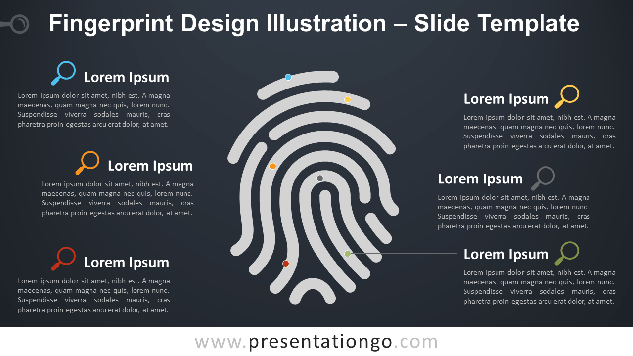 Free Fingerprint Template for PowerPoint